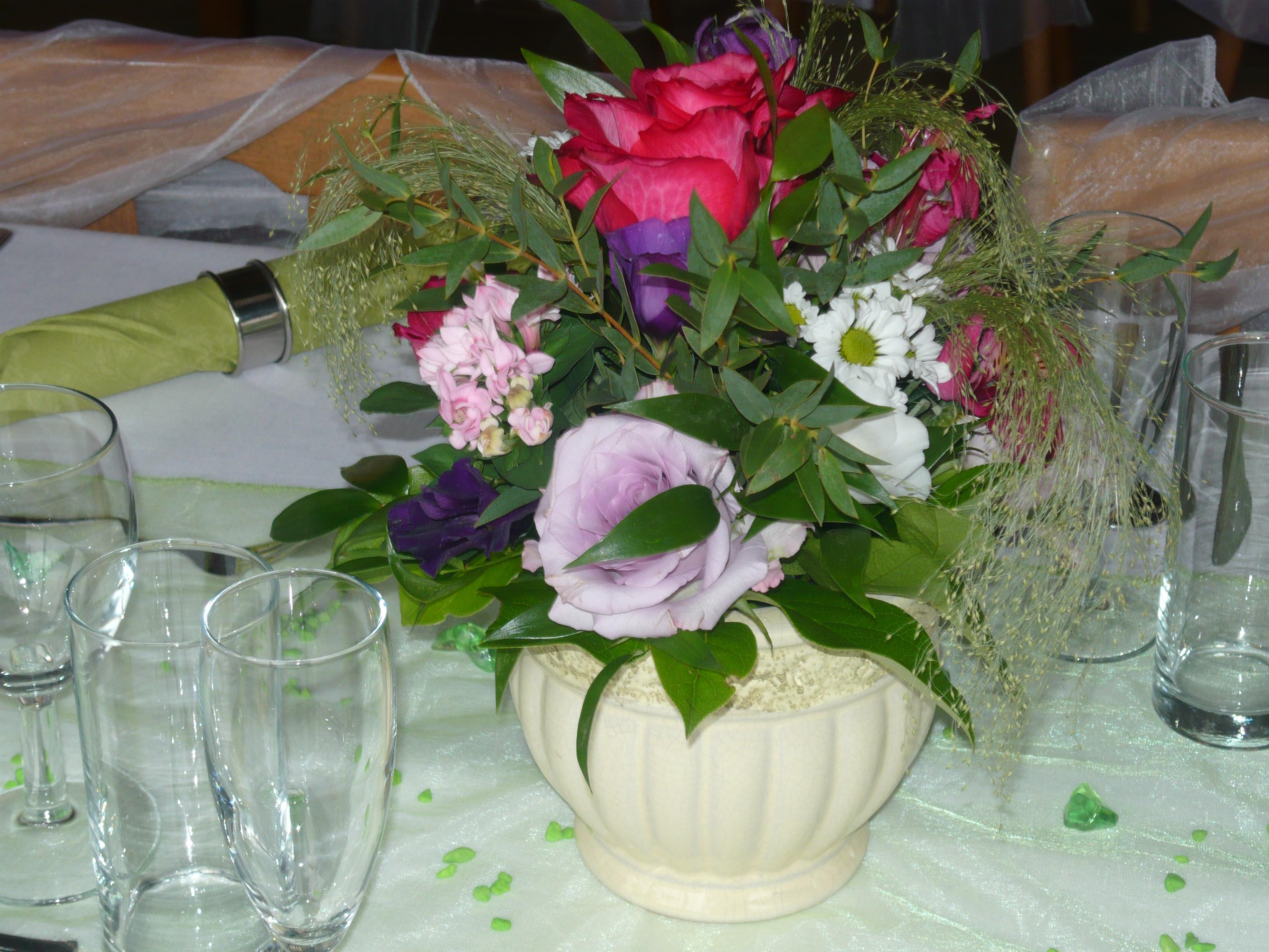 výzdoba svatebního stolu