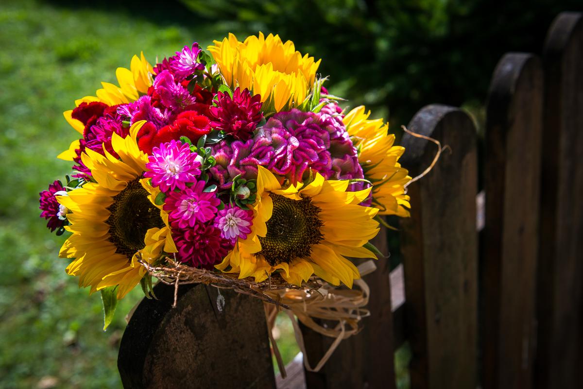 kytice ze slunečnic